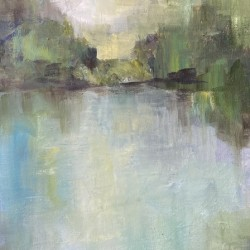Abstract pond