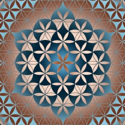 Flower of Life Floral Pattern
