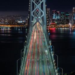 Oakland - San Francisco Bay Bridge at Night