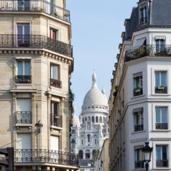 Sacred Heart of Paris and Parisian building