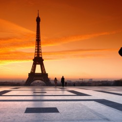 Eiffel tower and the photograph