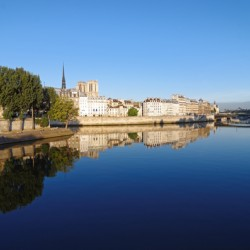 Seine river reflection