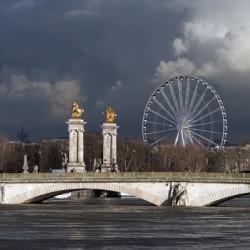 Invalides bridge and big wheel