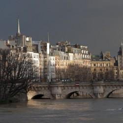 Stormy sky in Paris
