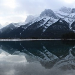 Canmore Winter Mountain Panorama