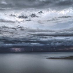 Lightning Over Lake Titicaca