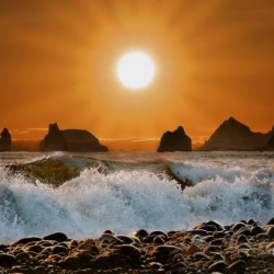 Sunset at Rialto Beach