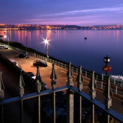 Swansea Bay at night