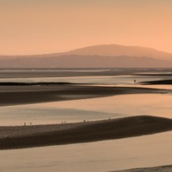 Loughor estuary at dusk