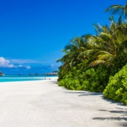 Amazing beach in Maldives, summer travel
