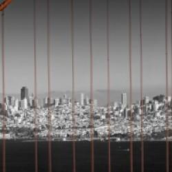 Golden Gate Bridge Panoramic Downtown View