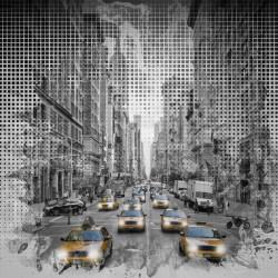 Graphic Art NEW YORK CITY 5th Avenue Traffic