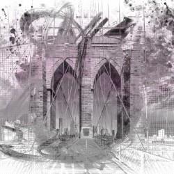City Art Brooklyn Bridge in Detail |