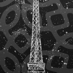Graphic Art PARIS Eiffel Tower | ultraviolet & silver
