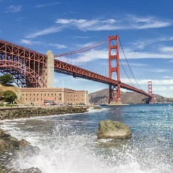 GOLDEN GATE BRIDGE Coastline Impression