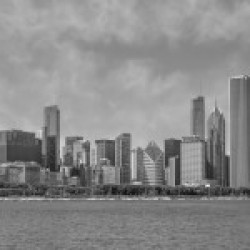 Chicago Skyline | Panorama Monochrome