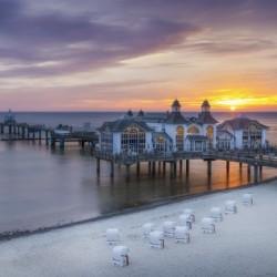 BALTIC SEA Sellin Pier during sunrise