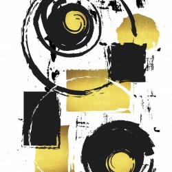 Abstract Painting No. 37 | gold