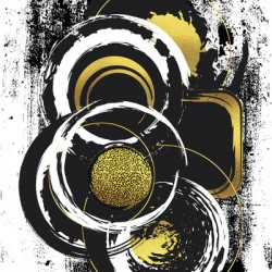 Abstract Painting No. 51 | gold