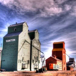 Grain Elevators in Nanton Alberta