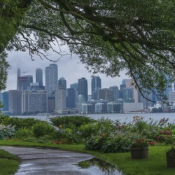 Downtown Toronto seen from Wards Island