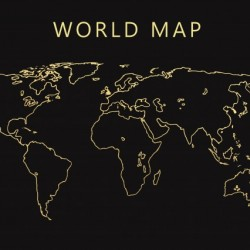 World Map 1 - Radiy - Canvas Artwork