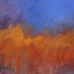 Orange and Blue Landscape