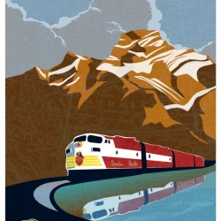 Retro CP rail travel poster