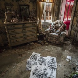 Abandoned Alice In Wonderland Room