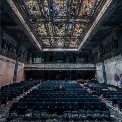 Decaying Blue Auditorium