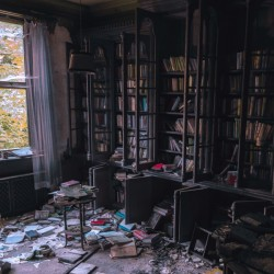 Abandoned Mansion Library