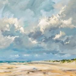 Beach Vrouwenpolder oil painting