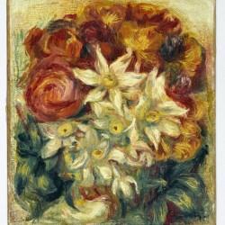 Bouquet de narcisses et de roses