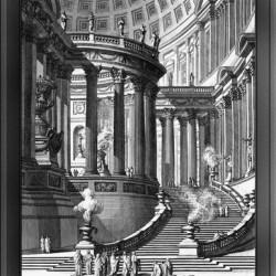Antique Amtic Temple Engraving by Giovanni Battista Piranesi Classical Art Xzendor7 Old Masters Reproductions