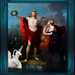 Apollo God of Light with Urania Muse of Astronomy by Charles Meynier Classical Fine Art Xzendor7 Old Masters Reproductions