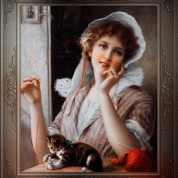 At Play byEmile Vernon Vintage Fine Art Xzendor7 Old Masters Reproductions