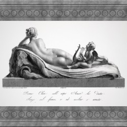 Back view of Venus Reclining Accompanied by Cupid by Antonio Canova Classical Fine Art Xzendor7 Old Masters Reproductions
