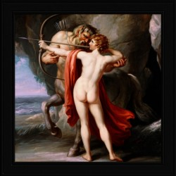 Chiron Instructing Achilles in the Bow by Giovanni Battista Cipriani Classical Fine Art Xzendor7 Old Masters Reproductions