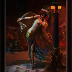 Dance of the Seven Veils by Gaston Bussiere Classical Fine Art Xzendor7 Old Masters Reproductions