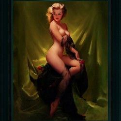 Golden Beauty by Gil Elvgren Vintage Pinup Illustration Xzendor7 Old Masters Reproductions