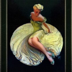 Golden Girl by Roy Best Vintage Illustration Xzendor7 Art Reproductions