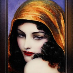 Gypsy by Polish Painter Wladyslaw Theodor Benda Classical Art Xzendor7 Old Masters Reproductions