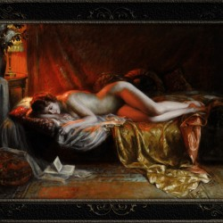 Just Finishing Reading A Novel by Delphin Enjolras Classical Art Xzendor7 Old Masters Reproductions