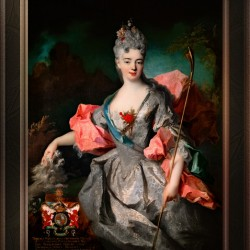 Lady Maria Josefa Drummond by Jean-Baptiste Oudry Classical Fine Art Xzendor7 Old Masters Reproductions