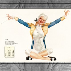 Miss George Washington Celebrating Old Glory by Alberto Vargas Vintage Pinup Girl Xzendor7 Old Masters Reproductions