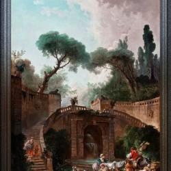 Park vile dEste by Hubert Robert Classical Fine Art Xzendor7 Old Masters Reproductions
