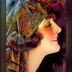 Portrait Of Martha Mansfield by Rolf Armstrong Vintage Xzendor7 Old Masters Art Nouveau Reproductions