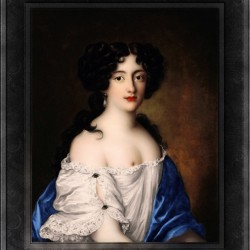Portrait of Hortense Mancini by Jacob Ferdinand Voet Classical Fine Art Xzendor7 Old Masters Reproductions