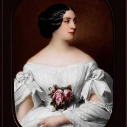 Portrait of Mrs Renouard de Bussiere by Hermann Winterhalter Classical Fine Art Xzendor7 Old Masters Reproductions