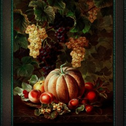 Pumpkin Platter by Johan Laurentz Jensen Classical Fine Art Xzendor7 Old Masters Reproductions